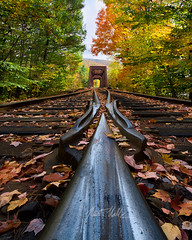 Ride the Rail (rootswalker) Tags: newengland vermont fallcolor railroad traintracks photostacked nikond810 distagont2821 carlzeiss21mm carlzeiss