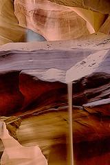 Arizona - Antelope Canyon - Falling Sand (NikonD3xuser1(Thanks for 1.6 million visits)) Tags: usa arizona page antelopecanyon light rocks sand sandstream fallingsand nikond800 canyon slotcanyon navajo tunnel cave