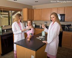 Multi-Tasking (Laveen Photography (aka cyclist451)) Tags: arizona blood az multipleexposure medical lane leslie blonde schwartz multitasking litchfieldpark laneschwartz
