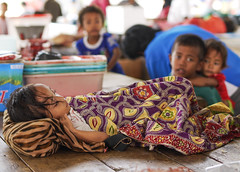 Sleeping Child at the Market (daniel.frauchiger) Tags: street sleeping flores children indonesia island market panasonic indonesian gf1