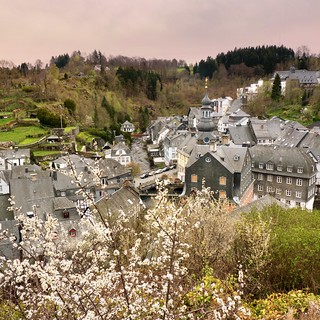 View over the historical old town Monschau
