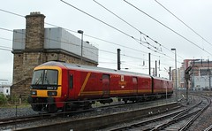 Getting Ready For The Return Of The Royal Mail To the East Coast Mainline (Derbyshire Harrier) Tags: wet spring railway railwaystation royalmail railtour raining damp eastcoast newcastleupontyne tynewear 2013 newcastlecentral pathfindertours 325014