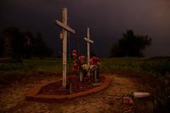Road Side Shrine : Near Dodge City : Kansas (jezblog on Flickr) Tags: car shrine accident roadside storms fatal wrecks