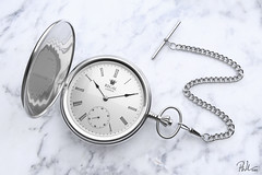 Just Watch... (Paul Michael Wilson) Tags: new old blackandwhite reflection classic rock metal stone modern vintage silver 3d hands shiny time watch monotone clean glossy reflective blender marble simple element polished pocketwatch wellalmost oldfathertime