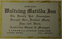 Waltzing Matilda Inn (m20wc51) Tags: bar hongkong card kowloon wanchai