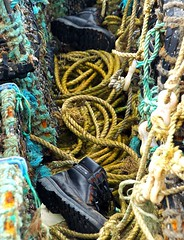 LostSoles (Hodd1350) Tags: christchurch boots sony rope quay dorset lobsterpots mudeford a77