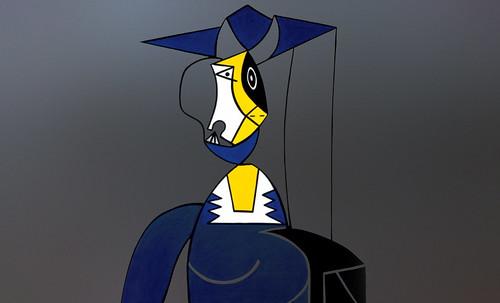 "Mujer en Gris, caracterización de Pablo Picasso (1942), recreación de Roy Lichtenstein (1962). • <a style=""font-size:0.8em;"" href=""http://www.flickr.com/photos/30735181@N00/8805268463/"" target=""_blank"">View on Flickr</a>"