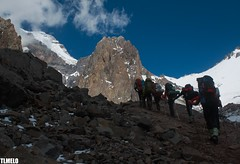 """""""Walking, singing and following the song"""" - Aconcagua Mount - Argentina (TLMELO) Tags: sky mountain snow storm ice gelo southamerica nature argentina clouds trekking walking point landscape climb hiking walk natureza paisagem hike cu glacier mount climbing backpacking backpack neve summit andes heavy glaciar caminhada justdoit montanha mountaineer trilha highest argentino aconcagua amricadosul cume impossibleisnothing keepwalking carregadores polishglacier fakepolish highestpointamerica aconcaguamount glaciardospolacos falsopolacos"""