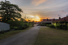 Neighbour (Mohamad Zaidi Photography) Tags: road sunset tarmac landscape gombak leadingline singleraw neighbourhouse d7100 tokina1116 oldmalayhouse mohamadzaidiphotography telecommunicationline