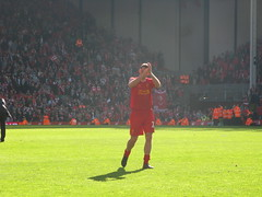 Jamie Carragher at the end  of the match (kersalflats) Tags: club liverpool football jamie stadium reds mighty qpr anfield lfc carragher