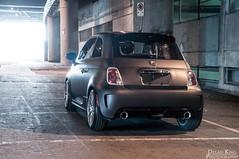 Matte black Fiat 500 Abarth (Dylan King Photography) Tags: auto canada black vancouver nikon bc fiat wheels group wrap 500 carbon custom fiber rims bbs sr matte abarth vancity d90