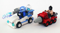 Freeze & Bane Racers (Oky - Space Ranger) Tags: ice dc gun ray lego mr mini super diamond freeze batman mister heroes racers universe bane drill zamboni resurfacer