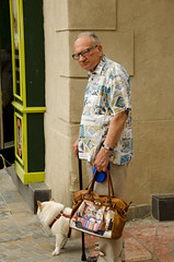 I hate Shopping (SLX_Image) Tags: old man shopping south hate grumpy languedoc narbonne franc