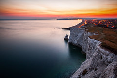(drfugo) Tags: sunset sea summer landscape dusk cliffs whitecliffs seaford sigma28mmf18exdg canon5dmkii