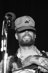 Princely Grin (peterkelly) Tags: bw musician ontario canada mike hat digital beard guitar guelph northamerica microphone hillside willoldham bonnieprincebilly hillsidefestival guelphlakeconservationarea 2013