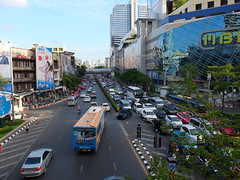 Rush Hour (stardex) Tags: city trafficjam car vehicle road mbk building architecture jam transport bangkok thailand stardex bus
