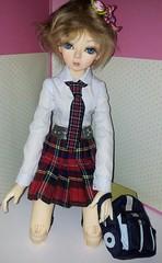 moving up to big school ^_^ (Natalie_myminiworld) Tags: school girl ball uniform doll action dana bjd drake ashton jointed hujoo flickrandroidapp:filter=none