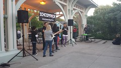 School of Rock Performs (Unionville BIA) Tags: street school music ontario canada rock kids live main performance millennium talent bandstand markham unionville