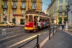 Free ride (Joo Cruz Santos) Tags: portugal beauty europe lisbon tram hdr vclecu1 sel16f28 nex5r