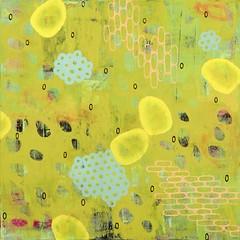 eukaryotes (Junko Yamamoto) Tags: seattle abstract art japanese stencil colorful artist strokes pastel manga brush pop canvas textile comicbook kimono calligraphy popculture oilpainting bold shunyata junkoyamamoto