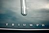 Triumph Logo (APR Photography) Tags: cars car closeup clouds automobile triumph classiccars carhood carbonnet