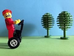 Segway enthusiast (castelvecchiolover) Tags: lego segway minifigure