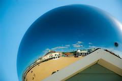 Sphere (Cissa Rego) Tags: uk england art dragon hut sphere dorset beachhut bournemouth artbythesea