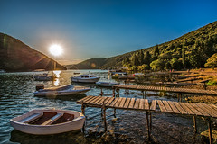 Sunset at the Lim bay in the valley (Iztok Alf Kurnik) Tags: travel sunset sea wallpaper sky sun dan nature water beautiful weather geotagged boats bay nationalpark fisherman europe day village photographers croatia sunny bluesky fair tourist clear more 25 unite weatherproject fjord vik