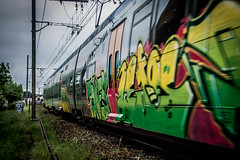 (Jamiecat *) Tags: street railroad urban art saint train de graffiti graff toulouse chemin roch fer voie ferre ter agne