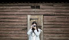 photoception (benblenner) Tags: portrait building girl fuji ben selfie x100 blenner
