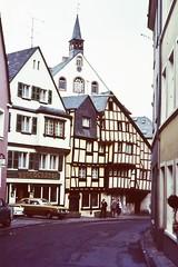 GERMANY by JS (streamer020nl) Tags: clock church germany deutschland kirche slide dia scan 1970s 1980s js allemagne kerk klok halftimbered duitsland uhr fachwerk vakwerk burgschnke burgschanke