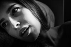 hunting (Elisa Castagna) Tags: portrait blackandwhite woman canon eyes