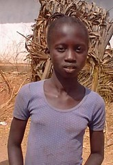 Village girl, Gambia
