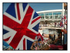 British and Proud of it! (Audrey A Jackson) Tags: vacation people holiday colour sunshine port happy lisbon flags cruiseship goinghome british sundeck ventura panasonicdmctz3