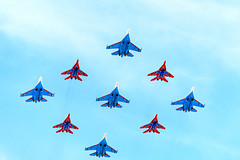 Su-27 -Flanker-B- MiG-29 -Fulcrum- (.su) Tags: force air 9 victory parade russian mig29 2015 su27 fulcrum     29 27  flankerb 09052015