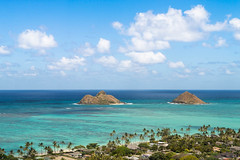 View from Lanikai Pillbox Hike (Hip Like Junk) Tags: travel vacation hawaii oahu lanikai mokuluaislands pillboxhike pillboxhikingtrail