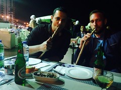 While travelling in The Middle East, shisha is something everyone smokes!