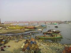 (sabbir_mix2) Tags: bridge river boat oil bangladesh meghna riverview businesscenter bhairab