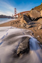 The Golden Gate Bridge (BretJMiller) Tags: ocean sanfrancisco california longexposure travel bridge vacation tripod pacificocean goldengatebridge sanfran oben frisco canon6d marshallsbeach canon1635f4lis
