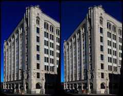 Whalen Building Outside 3D ::: HDR by RAW Cross-Eye Stereoscopy (Stereotron) Tags: canada ontario thunderbay whalen building artdeco architecture 3d 3dphoto 3dstereo 3rddimension spatial stereo stereo3d stereophoto stereophotography stereoscopic stereoscopy stereotron threedimensional stereoview stereophotomaker stereophotograph 3dpicture 3dglasses 3dimage crosseye crosseyed crossview xview cross eye pair freeview sidebyside sbs kreuzblick hyperstereo canon eos 550d chacha singlelens kitlens 1855mm tonemapping hdr hdri raw cr2 north america province 3dframe fancyframe floatingwindow spatialframe stereowindow window beautiful 100v10f
