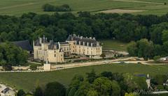 chateau de breze (brunoduboeuf) Tags: landscape vol chateau campagne arbre vigne ulm champ saumur breze aerienne paramoteur fz200