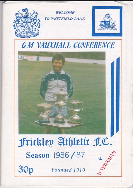Frickley Athletic V Altrincham 15/11/86 (FA CUP 1st Round)