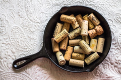 Wine Anyone? 25/365 (Kpryor23) Tags: art colors composition photography idea iron wine artistic fineart creative pot cast castiron 365 corks 365project 365pictures