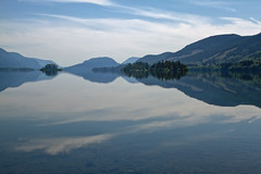 Lake Cowichan, BC (Freshairphotography) Tags: lake mountains reflections blues explore vancouverisland lakecowichan explored 74onexplore ilovebc caycuse