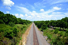 Railroad to Heaven (The Old Texan) Tags: railroad trees sky clouds
