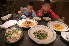 Table Full Of Spaghetti (camike) Tags: 24120mmf4gvr d750 fukuoka italian japan food pasta salad