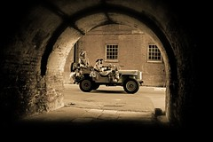 'Dockyard Patrol' (andrew_@oxford) Tags: chatham historic dockyard salute 1940s ww2 wartime reenactors reenactment lrgd long range desert group