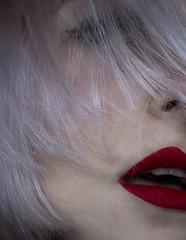 """J248/365  """"Qui veut de moi et des miettes de mon cerveau"""" (manon.ternes) Tags: paris photos photography photographie personne projet365 projet pink parisienne portrait project personnes pinup 365project 365days 365 tudiante etudiante student fille girl femme women maquillage rougealevre lvres lips hair whitehair white love bouche"""