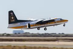 Golden Knights C-31A (Trent Bell) Tags: aircraft mcas miramar airshow california socal 2016 fokker f27 goldenknights c31a