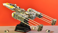 Y-wing - Flying (dmaclego) Tags: lego star wars fighter a new hope rebel spaceship